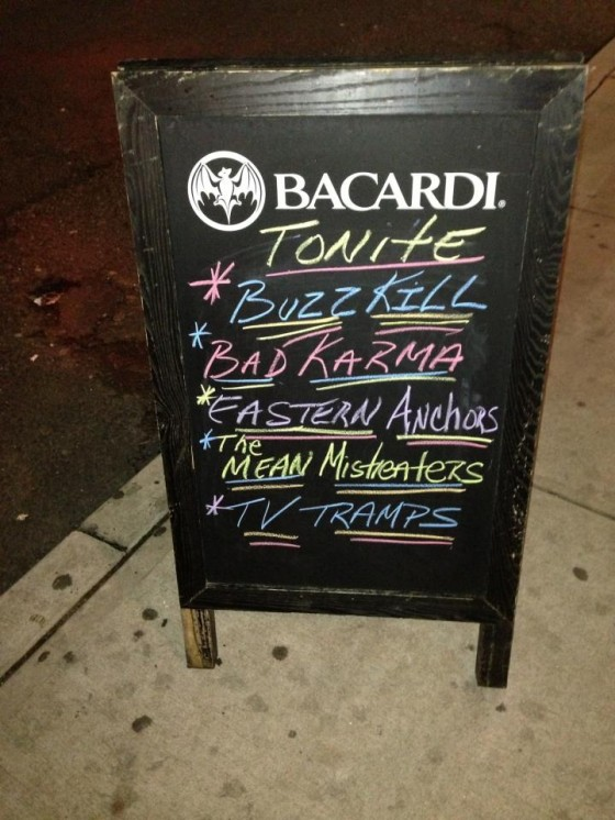 Court Tavern sign in front of Bar - New Brunswick NJ 2012