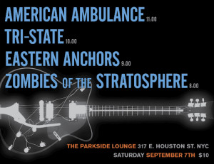 Parkside Lounge Show Eastern Anchors tri state Ameican ambulance Zombies of Strato